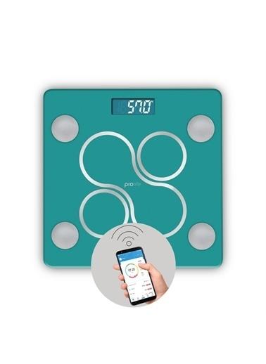 Polo Smart Polosmart Psc12 Prolife Yağ Ölçer Akıllı Bluetooth Tartı Baskül Yeşil Renkli